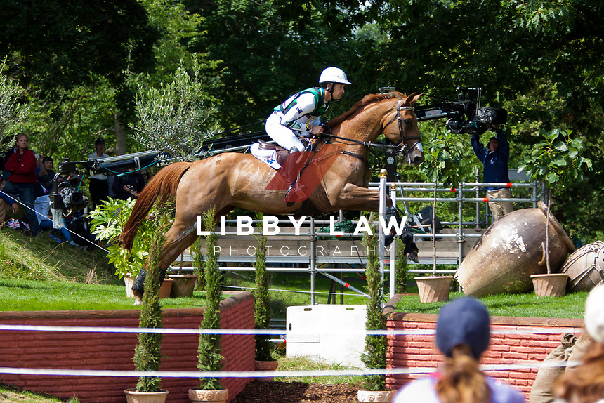 AUS-Christopher Burton (HOLSTEIN PARK LEILANI) 2012 LONDON OLYMPICS (Monday 30 July 2012) EVENTING CROSS COUNTRY: INTERIM-=10TH