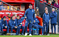 Middlesbrough manager Tony Pulis shouts instructions to his team from the technical area<br /> <br /> Photographer Alex Dodd/CameraSport<br /> <br /> The EFL Sky Bet Championship - Middlesbrough v Leeds United - Saturday 9th February 2019 - Riverside Stadium - Middlesbrough<br /> <br /> World Copyright © 2019 CameraSport. All rights reserved. 43 Linden Ave. Countesthorpe. Leicester. England. LE8 5PG - Tel: +44 (0) 116 277 4147 - admin@camerasport.com - www.camerasport.com