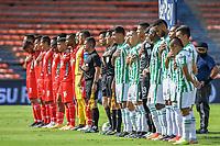 MEDELLIN - COLOMBIA, 18-04-2021: Atlético Nacional y Patriotas Boyacá F.C. en partido por la fecha 19 de la Liga BetPlay DIMAYOR I 2021 jugado en el estadio Atanasio Girardot de la ciudad de Medellín. / Atletico Nacional and Patriotas Boyaca F.C. in match for the date 19 as part of BetPlay DIMAYOR League I 2021 played at Atanasio Girardot stadium in Medellín city. Photo: VizzorImage / Luis Benavides / Cont