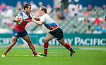 Russia  vs Chile during the Cathay Pacific / HSBC Hong Kong Sevens at the Hong Kong Stadium on 28 March 2014 in Hong Kong, China. Photo by Juan Flor / Power Sport Images