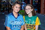 Enjoying the evening in Killarney on Saturday, l to r: Alice Norris (Dublin) and Sarah McMahon (Killarney).