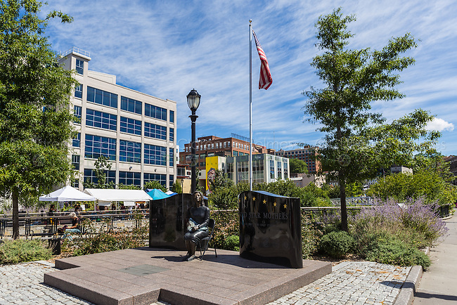 The Gold Star Mothers Monument in Van Der Donck Park in downtown Yonkers, New York.