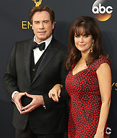 12 July 2020 - Actress and wife of John Travolta Kelly Preston dead at age 57 from breast cancer.18 September 2016 - Los Angeles, California - John Travolta, Kelly Preston. 68th Annual Primetime Emmy Awards held at Microsoft Theater. Photo Credit: AdMedia