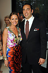 Hosts Lucinda and Javier Loya at a dinner party honoring Best Dressed Hall of Fame honorees Loya and Sue Smith at the Loya's residence Wednesday March 28,2012. (Dave Rossman/ For the Chronicle)