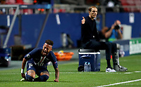 23rd August 2020, Estádio da Luz, Lison, Portugal; UEFA Champions League final, Paris St Germain versus Bayern Munich;  Neymar of Paris Saint-Germain goes down injured