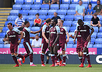 21st July 2021; Madejski Stadium, Reading, Berkshire, England; Pre Season Friendly Football, Reading versus West Ham United; Issa Diop of West Ham celebrates with his team mates after scoring in 37th minute 0-1