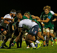 1st October 2021;  The Sportsground, Galway, Ireland; United Rugby Championships, Connacht versus Bulls; Abraham Papali'i drives forward for Connacht