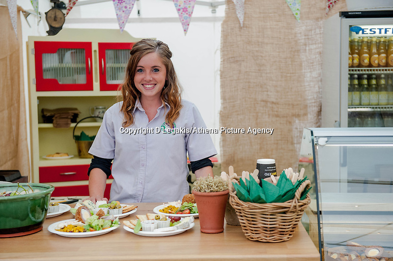 Thursday  29 May 2014, Hay on Wye, UK<br /> Pictured: Sian from the ' Slate of Cheese ' <br /> Re: The Hay Festival, Hay on Wye, Powys, Wales UK.