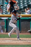 Josh Rojas (6) of the Fresno Grizzlies bats against the Salt Lake Bees at Smith's Ballpark on September 4, 2017 in Salt Lake City, Utah. Fresno defeated Salt Lake 9-7. (Stephen Smith/Four Seam Images)