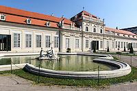 Unteres Belvedere in der barocken Sommerresidenz Belvedere, Wien, Österreich, UNESCO-Weltkulturerbe<br /> lower Belveder in Baroque summer residence Belvedere, Vienna, Austria, world heritage