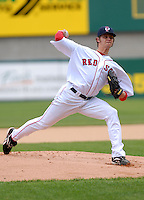 RHP Clay Buchholz of the Pawtucket Red Sox, the AAA International League affiliate of the Boston Red Sox, at McCoy Stadium in Pawtucket, RI 5-3-09 (Photo by Ken Babbitt/Four Seam Images)