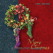 Marcello, CHRISTMAS SYMBOLS, WEIHNACHTEN SYMBOLE, NAVIDAD SÍMBOLOS, paintings+++++,ITMCXM1482,#XX# ,Christmas stockings ,Christmas wreath