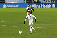 ST PAUL, MN - NOVEMBER 22: Cole Bassett #26 of Colorado Rapids controls the ball during a game between Colorado Rapids and Minnesota United FC at Allianz Field on November 22, 2020 in St Paul, Minnesota.