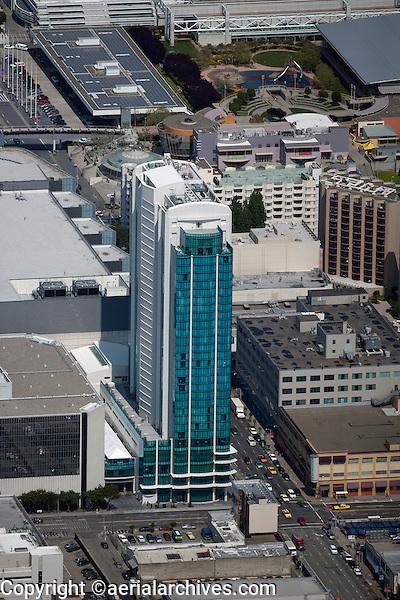 aerial photograph Intercontinental Hotel SOMA San Francisco, California