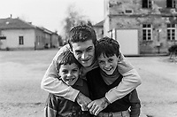 Children at the Varazdin refugee camp in the winter of 1992. <br /> <br /> In 1992 while volunteering at the Varazdin refugee camp Panos photographer Bjoern Steinz met and became close to Elvis, a Bosnian Muslim refugee, and his family. They shared the hardships of camp life together which Steinz documented. While the prints were archived for many years two of the images always returned to Bjoern's thoughts. 25 years later he set out to try and find out what had happened to Elvis and his family in the intervening years. Modern social media made the task surprisingly easy and they were reunited in Hadzici where Elvis now lives with his family.