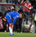 29.02.2020 Hearts v Rangers: James Tavernier dejection