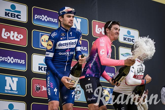 podium <br /> <br /> 1st place Alberto Bettiol (ITA/EF Education First)<br /> 2nd place Kasper Asgreen (DEN/Deceuninck Quick Step)<br /> 3th place finisher Alexander Kristoff (NOR/UAE)<br /> <br /> 103rd Ronde van Vlaanderen 2019<br /> One day race from Antwerp to Oudenaarde (BEL/270km)<br /> <br /> ©kramon
