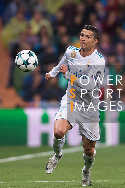 Cristiano Ronaldo of Real Madrid in action during the UEFA Champions League 2017-18 match between Real Madrid and Tottenham Hotspur FC at Estadio Santiago Bernabeu on 17 October 2017 in Madrid, Spain. Photo by Diego Gonzalez / Power Sport Images
