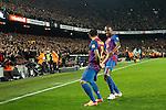 Barcelona's Daniel Alves goal during Spain's Kings Cup on January 25th 2012...Photo: Cesar Cebolla / ALFAQUI