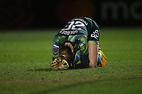 Despair for Ellie Roebuck of Manchester City after the ball passes through her legs for the second Arsenal goal during Arsenal Women vs Manchester City Women, FA Women's Continental League Cup Football at Meadow Park on 29th January 2020
