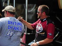 May 5, 2012; Commerce, GA, USA: NHRA top fuel dragster driver Shawn Langdon during qualifying for the Southern Nationals at Atlanta Dragway. Mandatory Credit: Mark J. Rebilas-