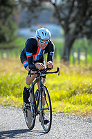 Cameron Fisher (Counties Manukau Cycling). Time trials on Day One of the 2018 NZ Age Group Road Cycling Championships in Carterton, New Zealand on 20 April 2018. Photo: Dave Lintott / lintottphoto.co.nz