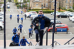 St Mirren v St Johnstone…09.05.21  Scottish Cup Semi-Final Hampden Park <br />Jason Kerr leads the players into Hampden Park as they arrive for todays game<br />Picture by Graeme Hart.<br />Copyright Perthshire Picture Agency<br />Tel: 01738 623350  Mobile: 07990 594431