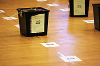 Pictured: Ballot boxes on the floor. Friday 09 June 2017<br />
