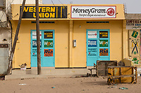 Senegal, Touba.  Western Union Office, Money Transfer Services.