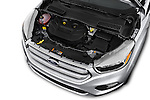 Car Stock 2018 Ford Escape SE 5 Door SUV Engine  high angle detail view
