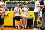 Edurne and Mariam Hernandez during the Charity Day of the Mutua Madrid Open at Caja Magica in Madrid. April 29, 2016. (ALTERPHOTOS/Borja B.Hojas)