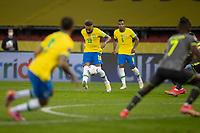 4th June 2021; Beira-Rio Stadium, Porto Alegre, Brazil; Qatar 2022 qualifiers; Brazil versus Ecuador; Neymar of Brazil takes a long shot on goal