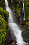 Waterfall detail, Nehalem River, Oregon.