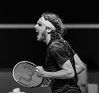 Rotterdam, The Netherlands, 4 march  2021, ABNAMRO World Tennis Tournament, Ahoy, First round singles: Stefanos Tsitsipas (GRE).<br /> Photo: www.tennisimages.com/