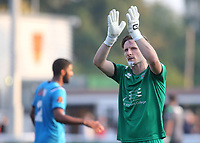 Eastbourne Borough goalkeeper, Lee Worgan, applauds the fans at the end of the match during Maidstone United vs Eastbourne Borough, Vanarama National League South Football at the Gallagher Stadium on 9th October 2021