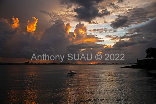 Old San Juan, Puerto Rico<br /> September 11, 2021<br /> <br /> Sunset on the Bajo Santa Elena from the Old San Juan.