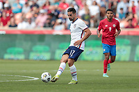 SANDY, UT - JUNE 10: Sebastian Lletget #17 of the United States crosses a ball during a game between Costa Rica and USMNT at Rio Tinto Stadium on June 10, 2021 in Sandy, Utah.