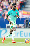 Samuel Umtiti of FC Barcelona in action during their La Liga match between Atletico de Madrid and FC Barcelona at the Santiago Bernabeu Stadium on 26 February 2017 in Madrid, Spain. Photo by Diego Gonzalez Souto / Power Sport Images