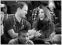 Prince William and Catherine Duchess Of Cambridge attend the Cycling at The Olympic Velodrome on The first day of the Paralympic Games...Tel: 07515 876520.e mail: kelvin@kisforkate.com