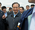 Chinese and South Korean Leaders Visit the Tohoku Region