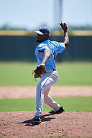 Tampa Bay Rays pitcher Hector Figueroa (14) during a Minor League Extended Spring Training game against the Atlanta Braves on April 15, 2019 at CoolToday Park Training Complex in North Port, Florida.  (Mike Janes/Four Seam Images)