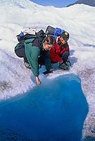 Pool of water on the root glacier, kennicottt, Wrangell St. Elias National Park, Alaska.