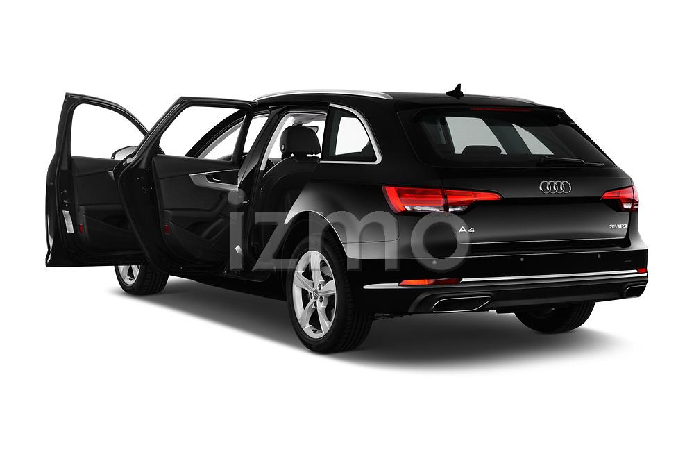 Car images close up view of a 2019 Audi A4-Avant Design 5 Door Wagon doors