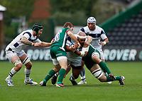 4th October 2020; Twickenham Stoop, London, England; Gallagher Premiership Rugby, London Irish versus Bristol tackled by Paddy Jackson of London Irish