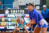 Amstelveen, Netherlands, 10 Juli, 2021, National Tennis Center, NTC, Amstelveen Womans Open, Doubles final: Amina Anshba (RUS) and Anastasia Detiuc (CZE)<br /> Photo: Henk Koster/tennisimages.com
