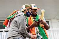 The Indian fans still smiling despite the lack of play during India vs New Zealand, ICC World Test Championship Final Cricket at The Hampshire Bowl on 18th June 2021