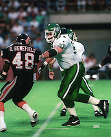 Dan Payne Saskatchewan Roughriders 1992. Photo F. Scott Grant