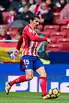Stefan Savic of Atletico de Madrid in action during the La Liga 2017-18 match between Atletico de Madrid and Getafe CF at Wanda Metropolitano on January 06 2018 in Madrid, Spain. Photo by Diego Gonzalez / Power Sport Images
