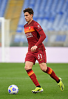 Football, Serie A: AS Roma - Atalanta Olympic stadium, Rome, April 22, 2021. <br /> Roma's Riccardo Calafiori in action during the Italian Serie A football match between AS Roma and Atalanta at Rome's Olympic stadium, Rome, on April 22, 2021.  <br /> UPDATE IMAGES PRESS/Isabella Bonotto