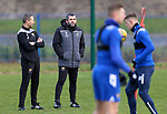 St Johnstone Training…. 09.12.20<br />Manager Callum Davidson pictured with fitness coach Alex Headrick during training ahead of Saturdays home game against Livingston.<br />Picture by Graeme Hart.<br />Copyright Perthshire Picture Agency<br />Tel: 01738 623350  Mobile: 07990 594431